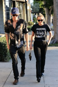 Miley Cyrus and Cody Simpson Wearing All Black While Strolling in LA