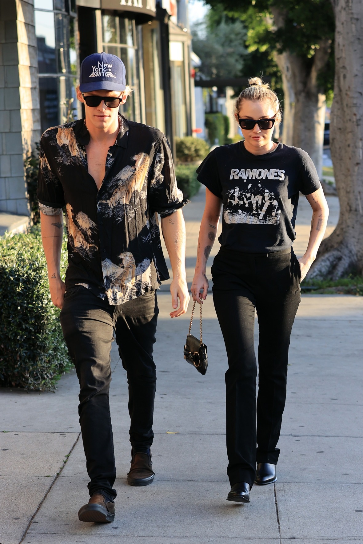 Miley Cyrus Walking With Cody Simpson in West Hollywood