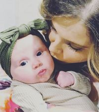 Mom Anna Duggar Kisses Baby Daughter Maryella