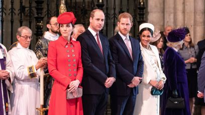 Prince Harry Wearing a Suit With Meghan Markle, Kate Middleton and Prince William