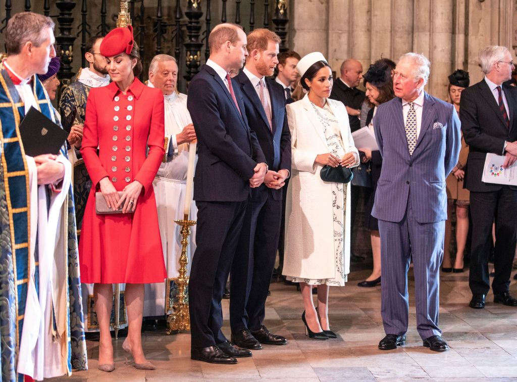 Prince Harry With the Royal Family Looking Tense