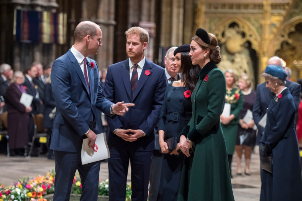 Prince Harry, Meghan, Kate and Prince William All Together