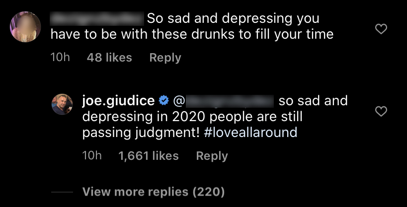 RHONJ's Joe Giudice Claps Back at Troll Who 'Passed Judgment'