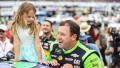Ryan Newman Wearing a Green Outfit With His Daughter