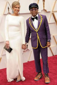 Spike Lee and Wife on 2020 Oscars Red Carpet