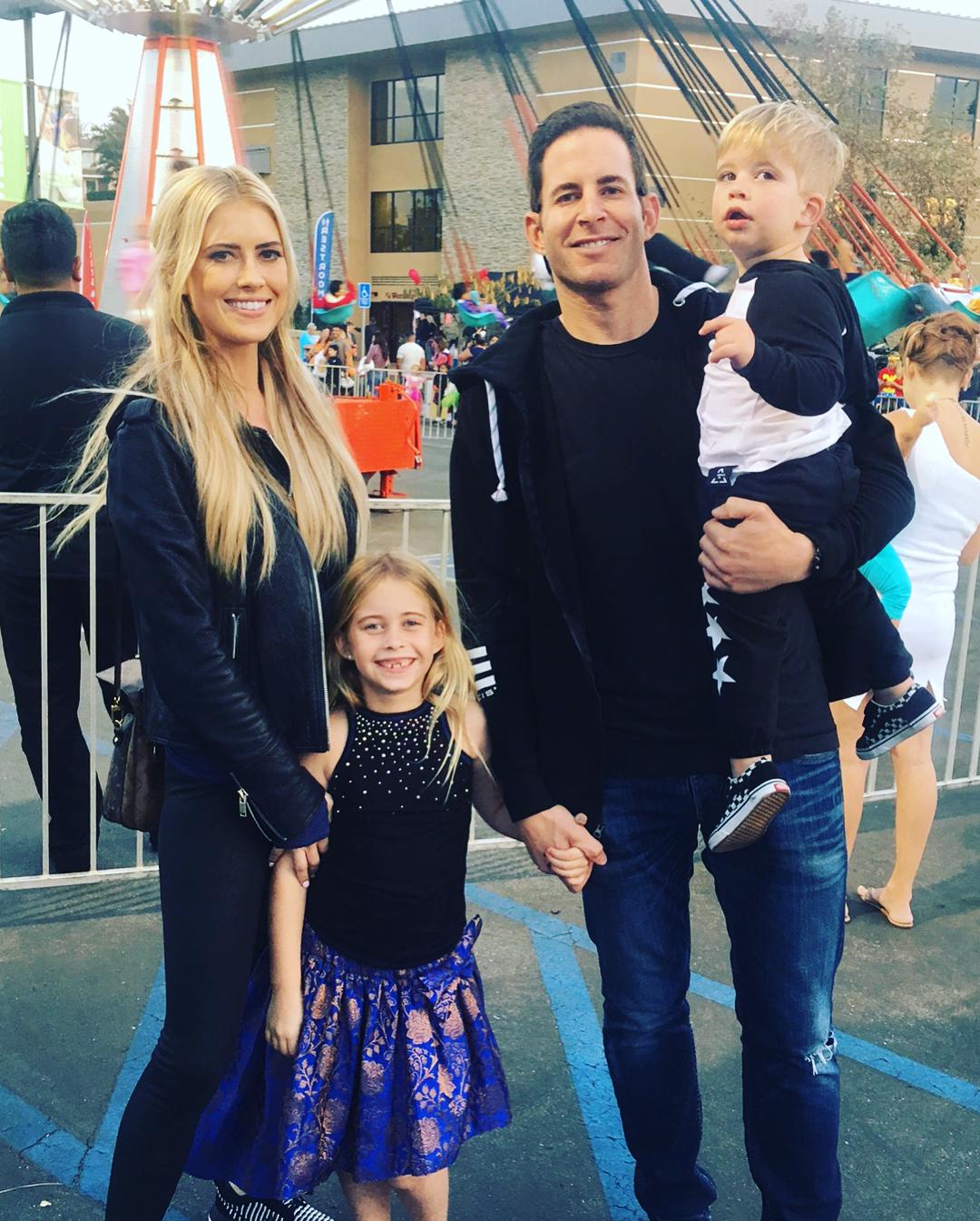 Tarek El Moussa With Christina and Their Kids