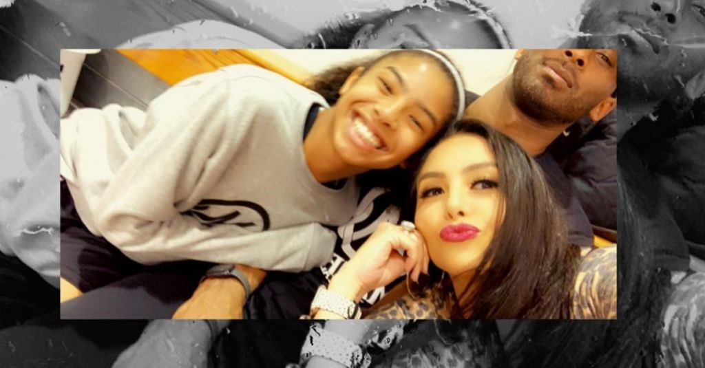 Vanessa Bryant With Kobe and Gianna
