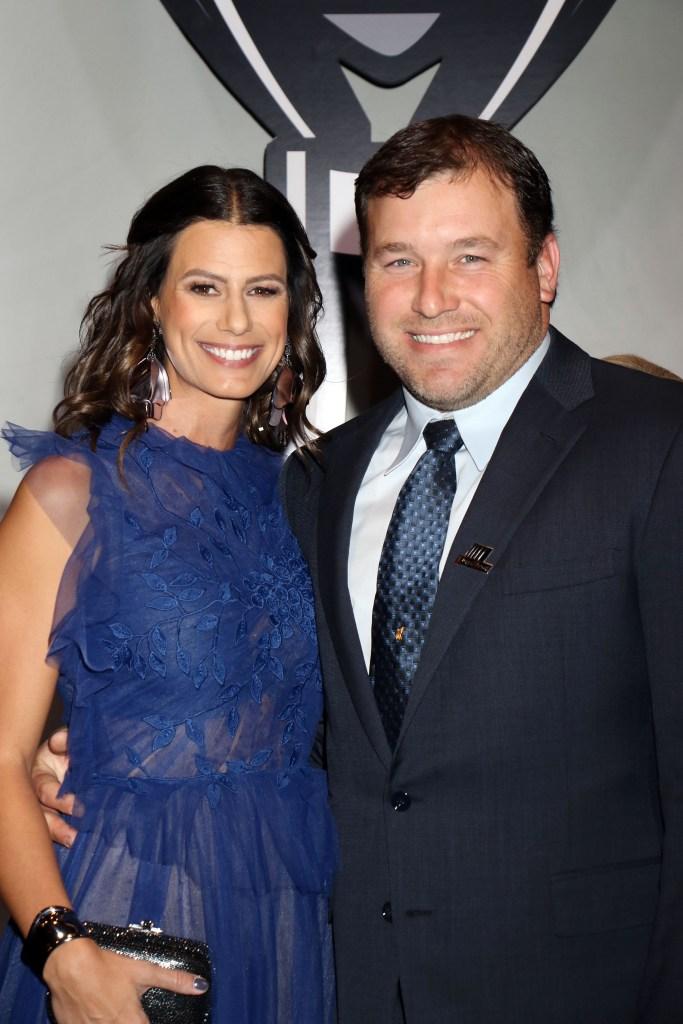 Ryan Newman Wearing a Tuxedo With Estranged Wife Krissi Newman