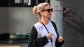 cameron diaz was spotted leaving a salon after a day of pampering after welcoming baby no. 1