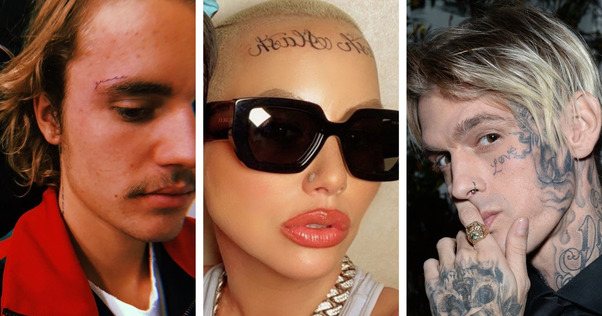 Stars Who Have Epic Face Tattoos — Justin Bieber, Amber Rose and More