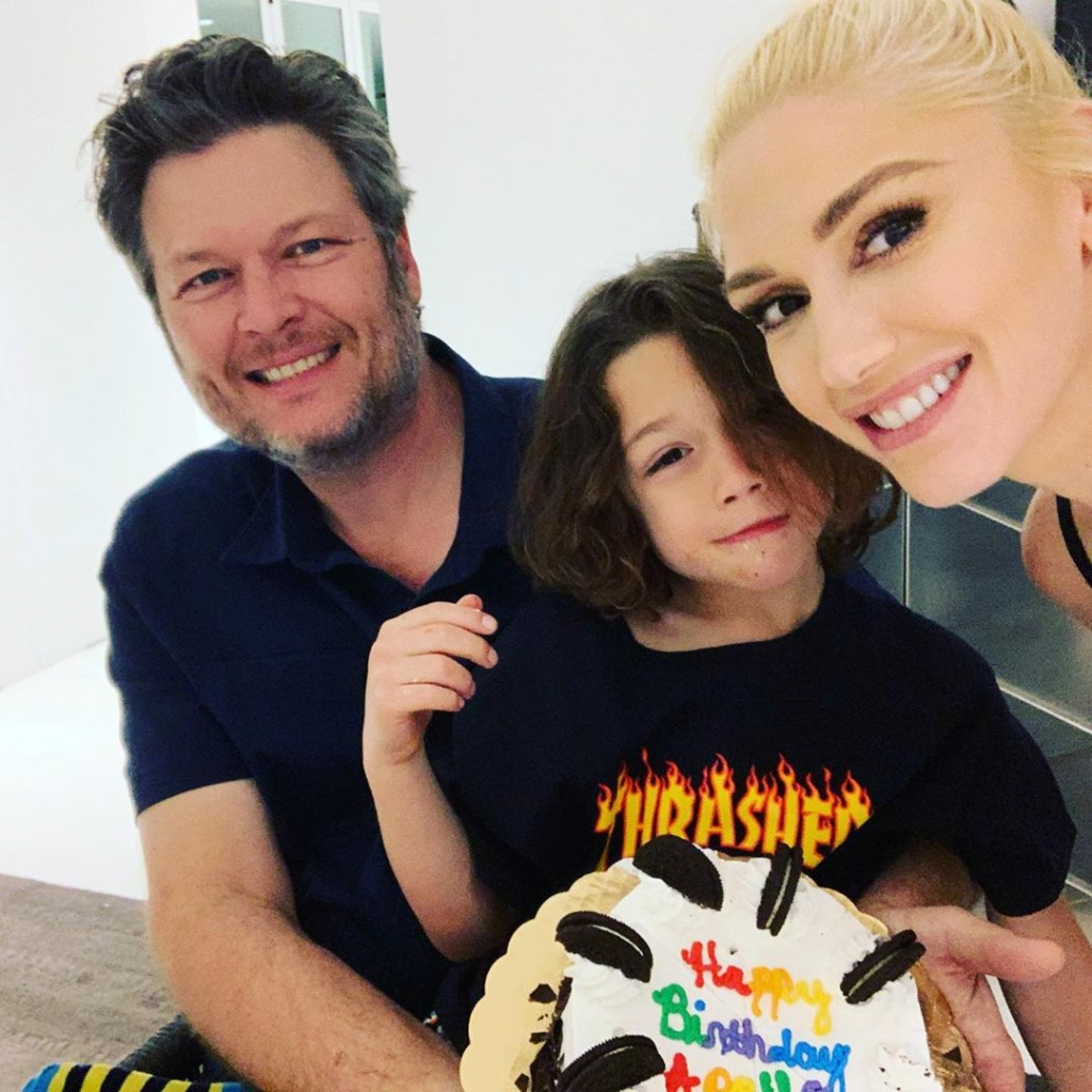 gwen stefani and blake shelton celebrate apollo's birthday
