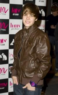 Justin Bieber signing his new record, HMV Westfield, London, Britain - 18 Jan 2010