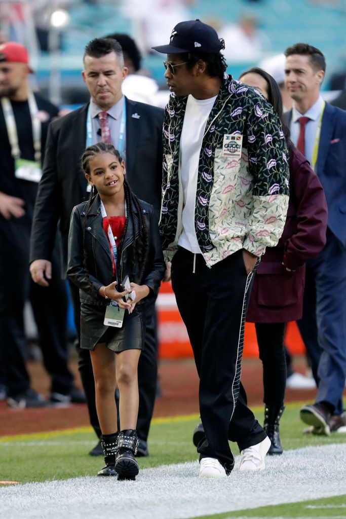 Blue Ivy and Jay Z 49ers Chiefs Super Bowl Football, Miami Gardens, USA - 02 Feb 2020
