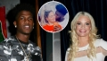 Inset Photo of Jay Smith Kissing Ashley Martson's Cheek Over Side-by-Side Photos of Jay and Ashley