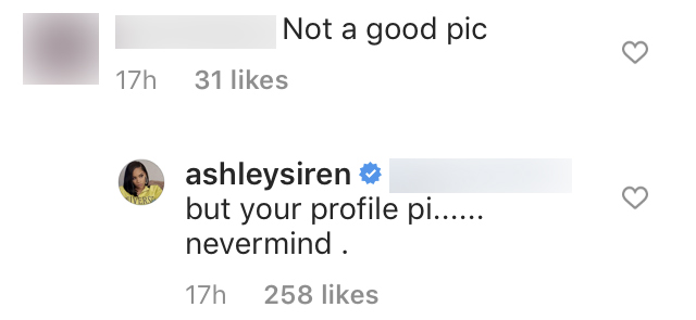 Ashley Siren Claps Back at Trolls Criticizing Her Sexy Photo on Instagram