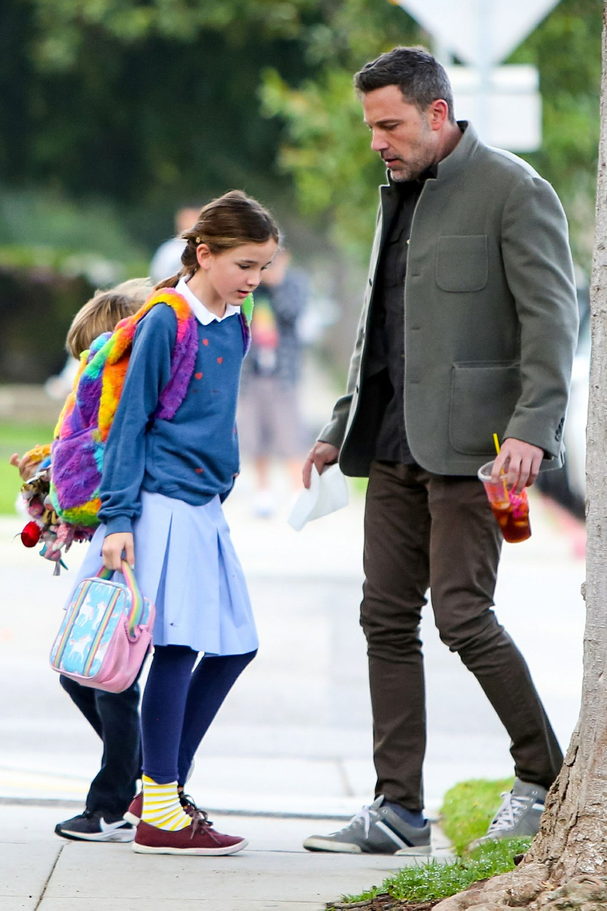 Ben Affleck Out and About With Seraphina and Samuel