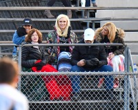 Gwen Stefani and Parents Cheer Son Kingston from Sidelines