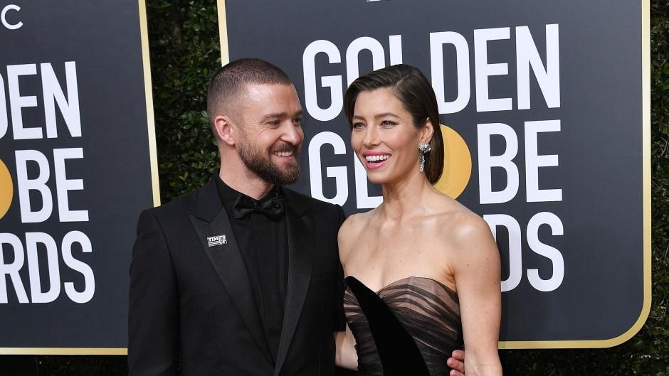 Justin Timberlake Looking at Jessica Biel