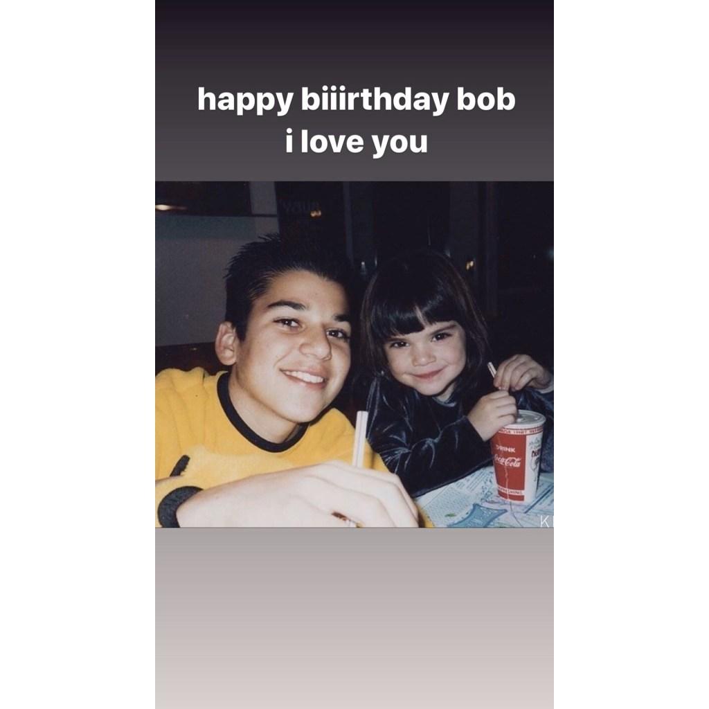 Kendall Jenner Wishes Big Brother Rob Kardashian a Happy 33rd Birthday