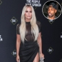 Inset Photo of Tristan Thompson Over Photo of Khloe Kardashian