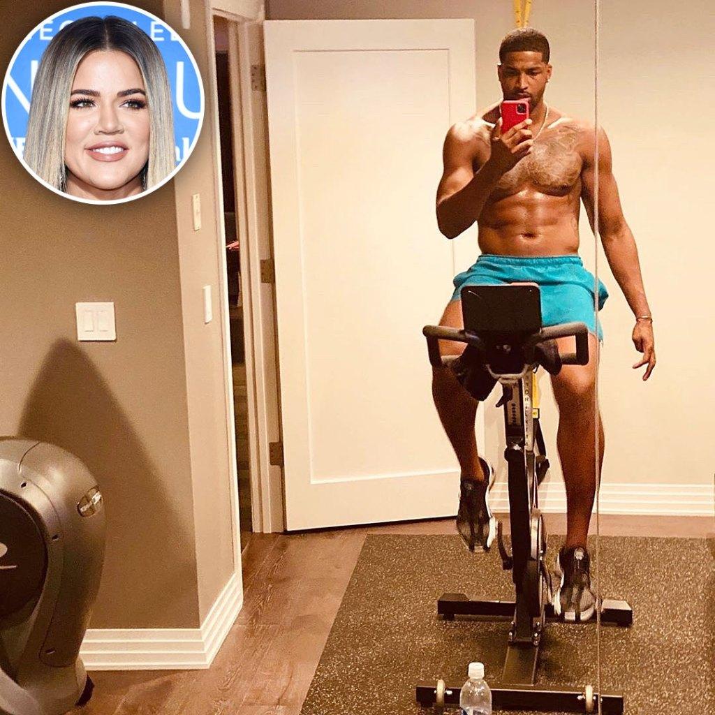 Khloe Kardashian Reacts to Tristan Thompson's Sexy Shirtless Selfie