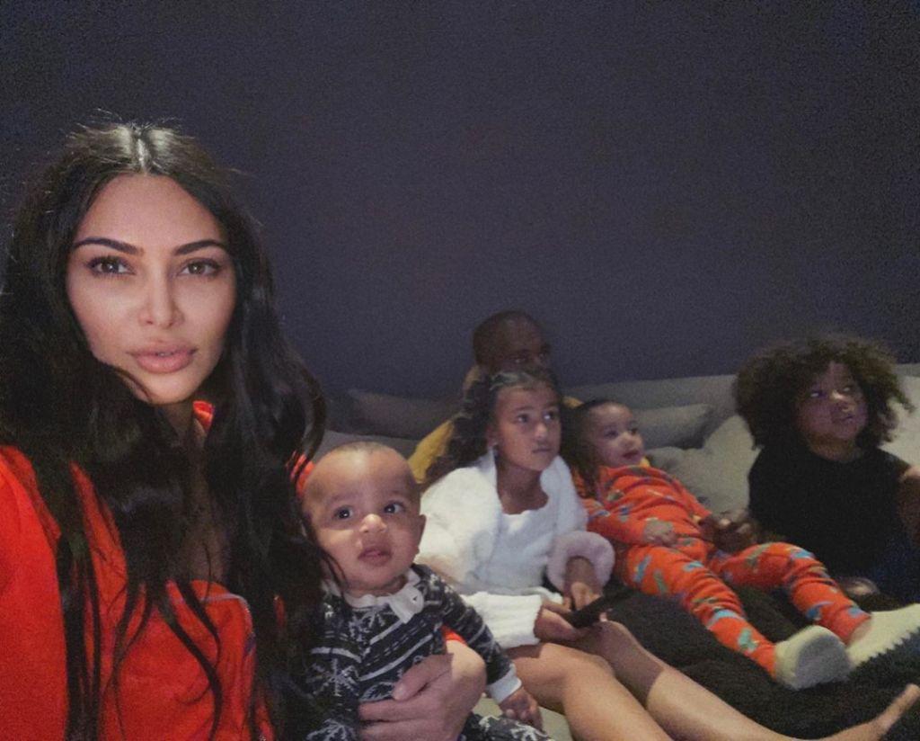 Kim Kardashian Family Selfie