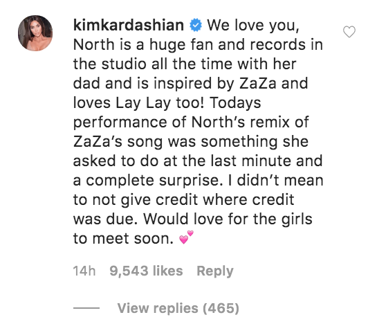 Kim Kardashian Replies to ZaZa