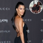 Inset Photo of Kourtney and Kim Fighting Over Photo of Kourtney Kardashian Looking Over Her Shoulder