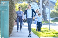 EXCLUSIVE: Jennifer Garner was seen taking her three kids out for a walk