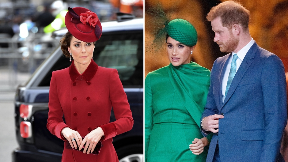 Side-by-Side Photos of Kate Middleton and Meghan Markle With Prince Harry