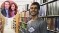 Inset Photo of Michelle and Jim Bob Duggar Over Photo of Derick Dillard