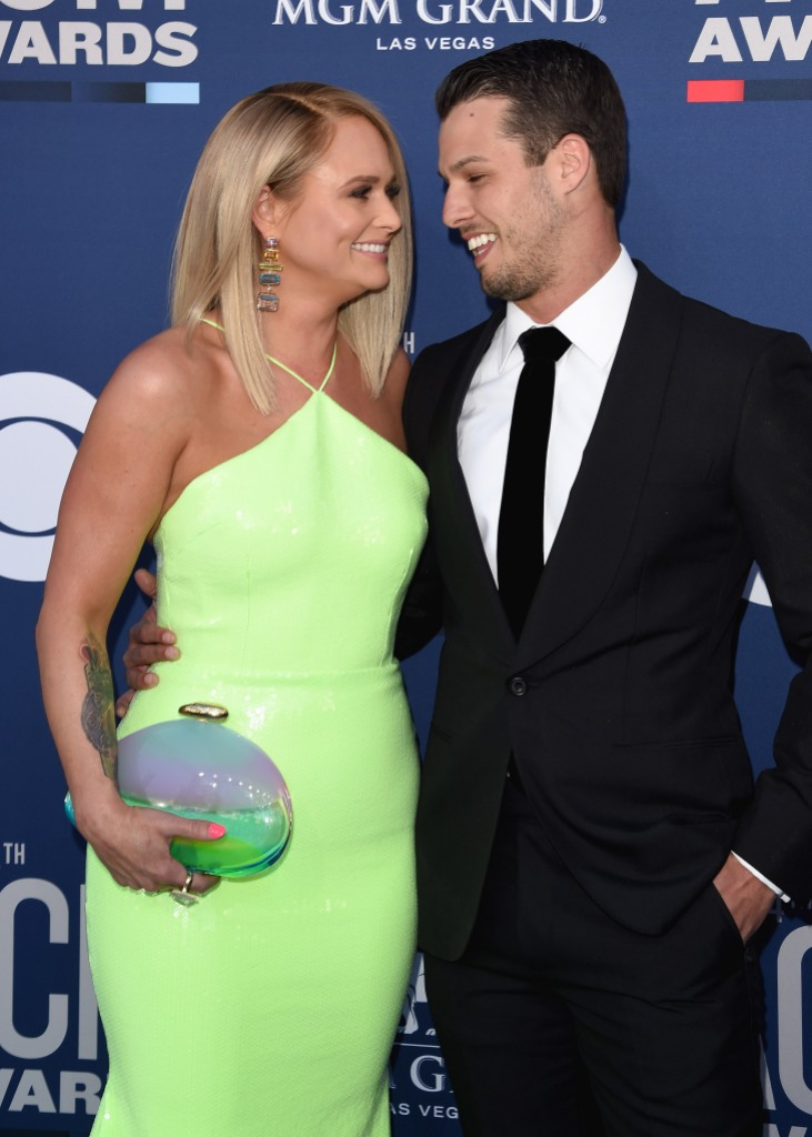 Miranda Lambert and Brendan McLoughlin Smile at Each Other on Red Carpet