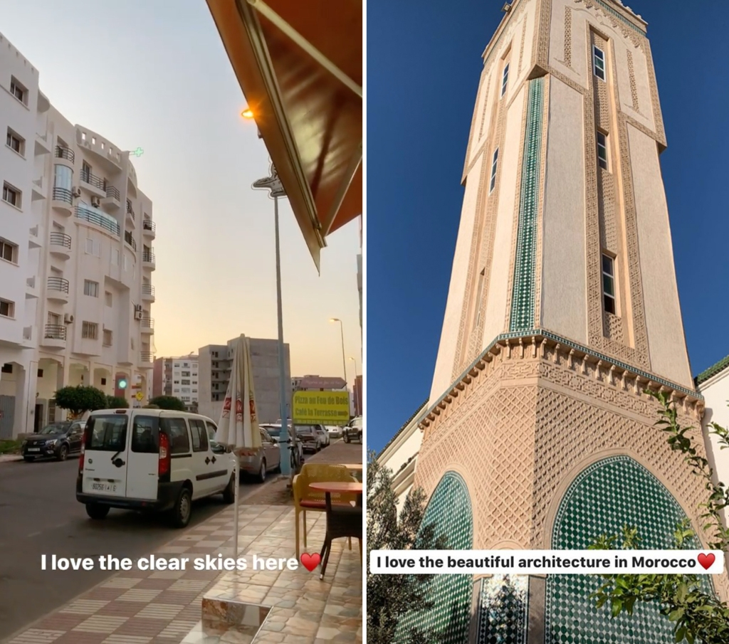 Nicole Nafziger Thinks Morocco Is Beautiful While Visiting Azan Tefou