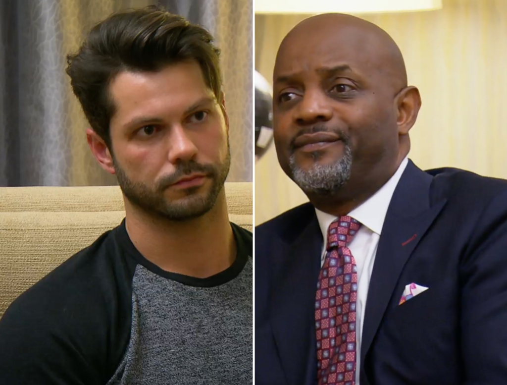 Side-by-Side Photos of Zach Justice and Pastor Cal on Married at First Sight