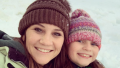 Danielle Busby and Kids in the Snow