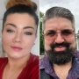 Side-by-Side Selfies of Amber Portwood and Andrew Glennon