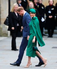 Prince Harry and Meghan Duchess of Sussex arrive to attend the annual Commonwealth Day service at Westminster Abbey