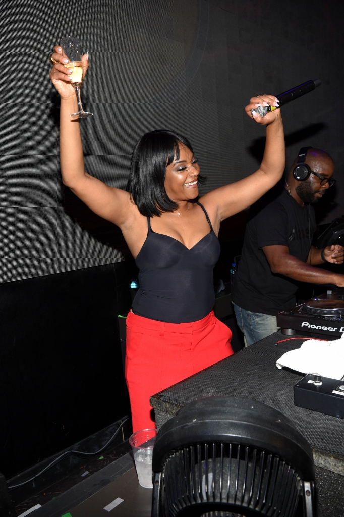tiffany haddish parties in the dj booth at the premiere nightclub at the borgata in atlantic city