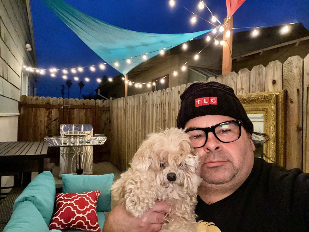 Ed Brown Holding His Dog