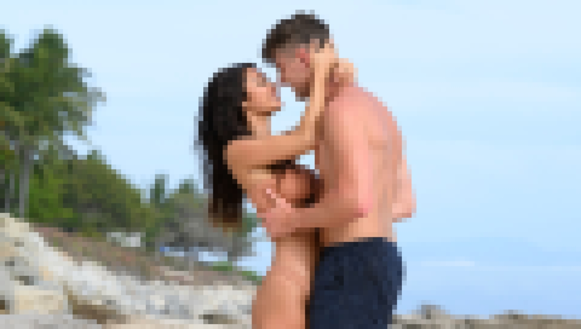 Harry Jowsey and Francesca Farago Embracing on Too Hot to Handle