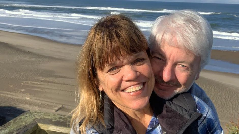 Engaged Chris and Amy Roloff at the Beach