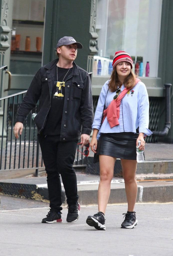 Rupert Grint and Georgia Groome Walking