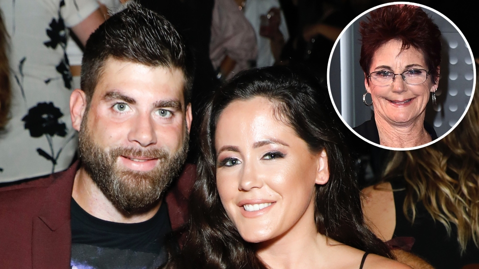 Inset Photo of Barbara Evans Over Photo of Jenelle Evans and David Eason