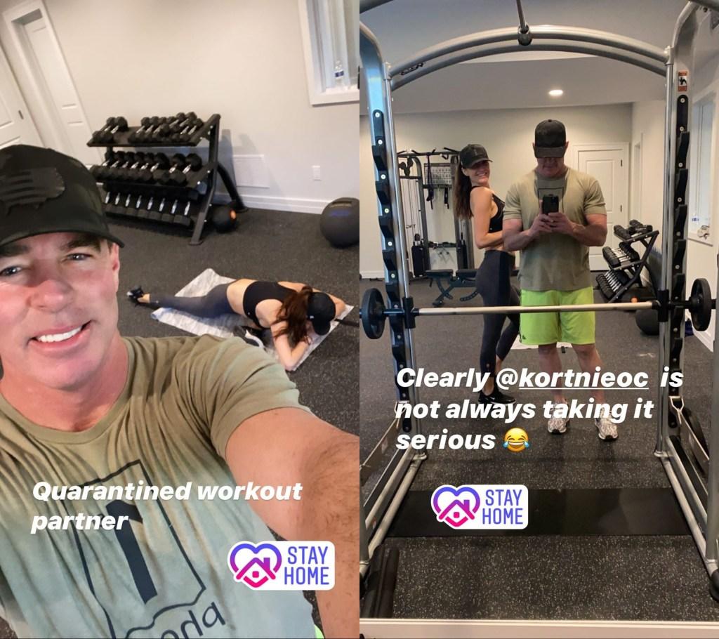 Jim Edmonds Works Out With Kortnie After Meghan Split