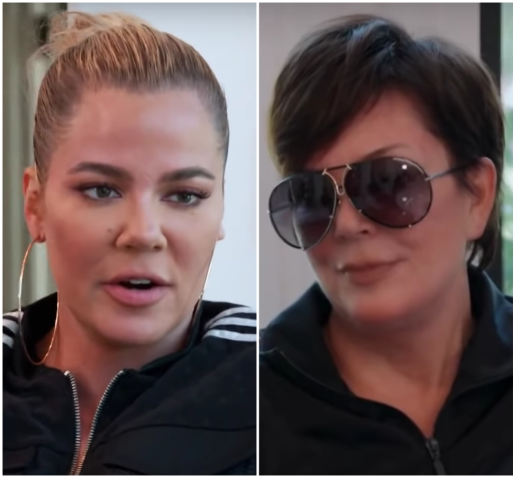 Kris Jenner Wears Large Hoops and Tight Bun in Split Image With Kris Jenner in Big Sunglasses on KUWTK