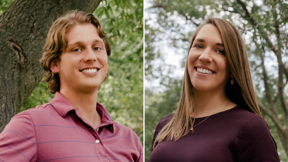 Side-by-Side Photos of Austin Hurd and Jessica Studer