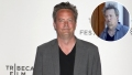 Inset Photo of Matthew Perry Looking Disheveled Over Photo of Matthew Perry on Red Carpet