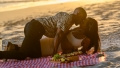 Too Hot to Handle's Sharron and Rhonda Canoodling on the Beach