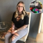 Inset Photo of Kailyn Lowry's Sprained Ankle Over Photo of Kailyn Lowry Sitting