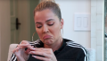 Khloe Kardashian Frowns in Adidas Tracksuit and Hoop Earrings on KUWTK
